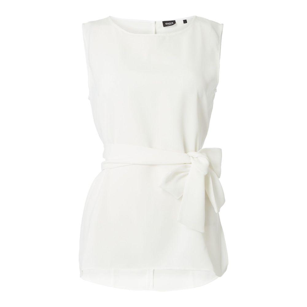 エメ Emme レディース トップス ベスト・ジレ【Potus Sleeveless Woven Waistcoat Top】white
