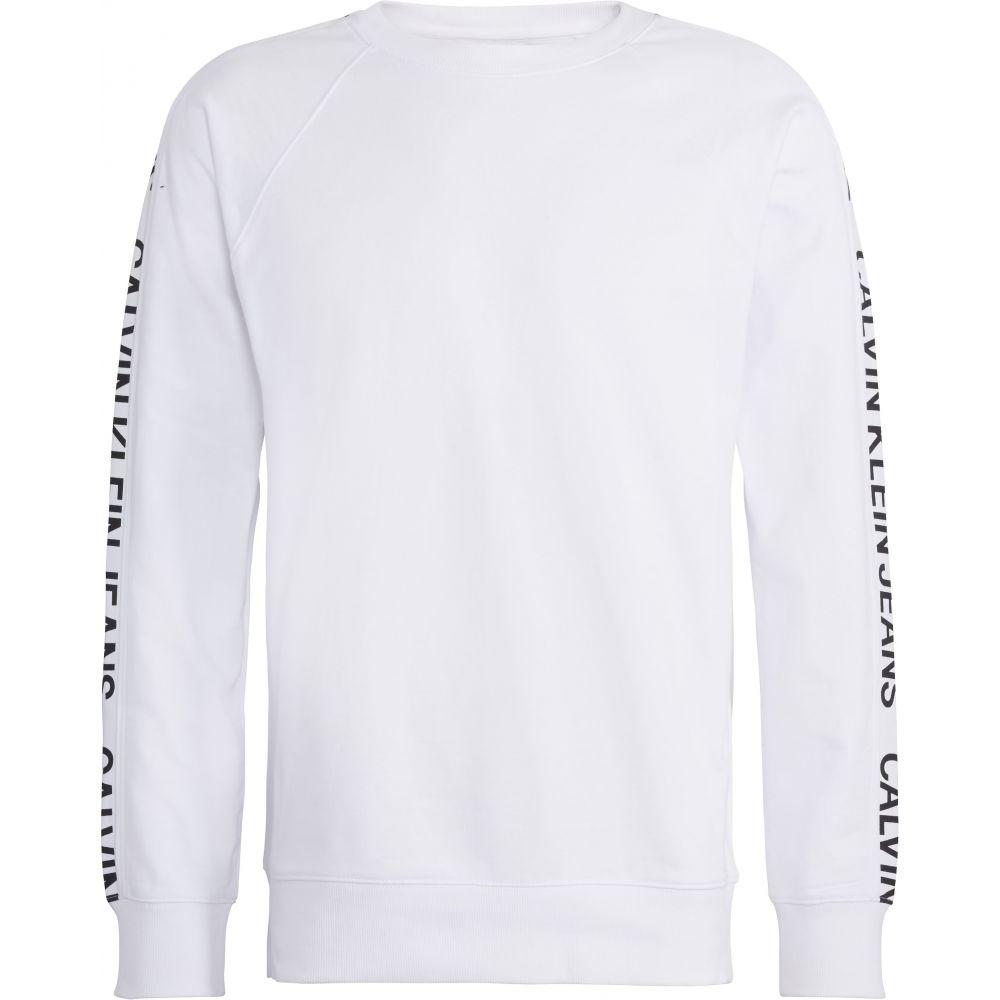 カルバンクライン Calvin Klein メンズ トップス スウェット・トレーナー【Side Logo Sweatshirt】black/white