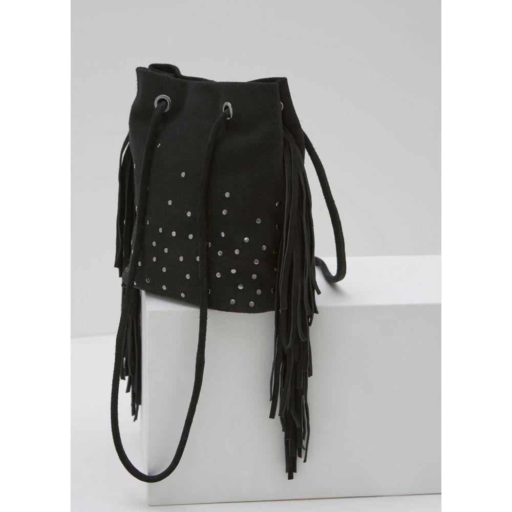 ミルトン ベルベット Mint Velvet レディース バッグ【Black Lois Tasselled Suede Bag】black