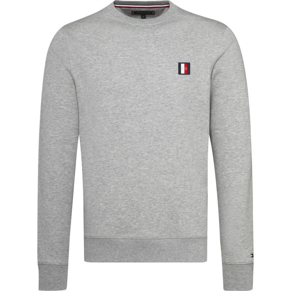 トミー ヒルフィガー Tommy Hilfiger メンズ トップス スウェット・トレーナー【Mini Badge Sweatshirt】grey