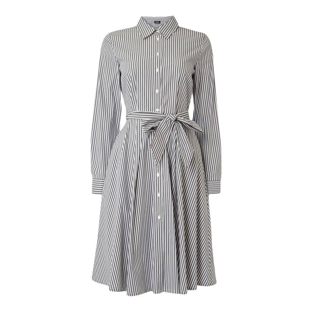 エメ Emme レディース ワンピース・ドレス ワンピース【Cicogna Fit And Flare Shirt Dress】grey