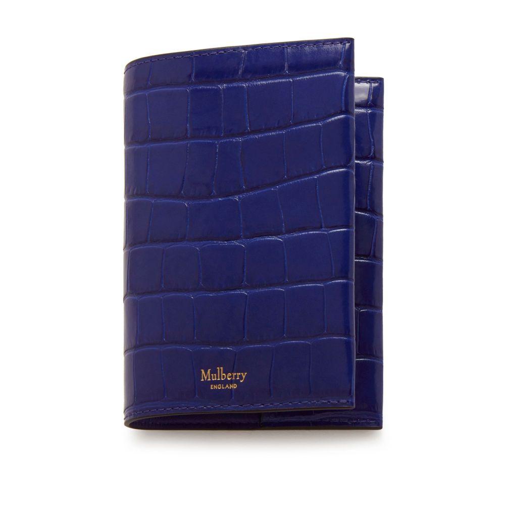 マルベリー Mulberry ユニセックス パスポートケース【Passport Cover】cobalt