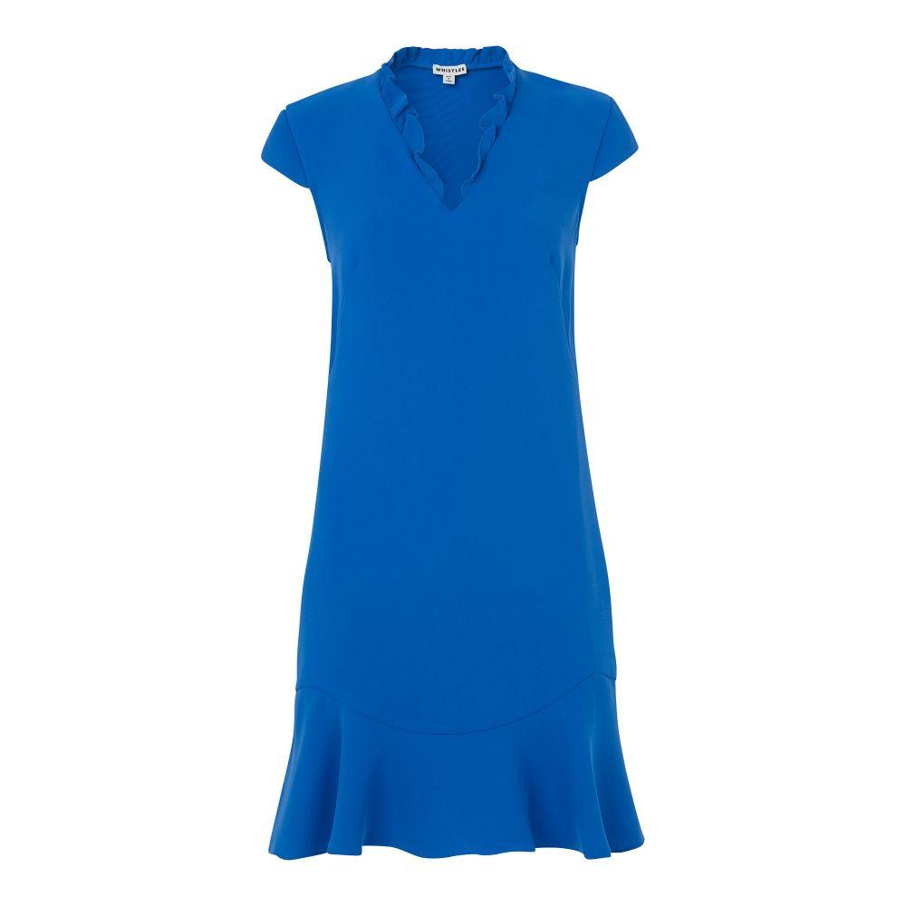 ホイッスルズ Whistles レディース ワンピース・ドレス ワンピース【Federica Crepe Dress】blue
