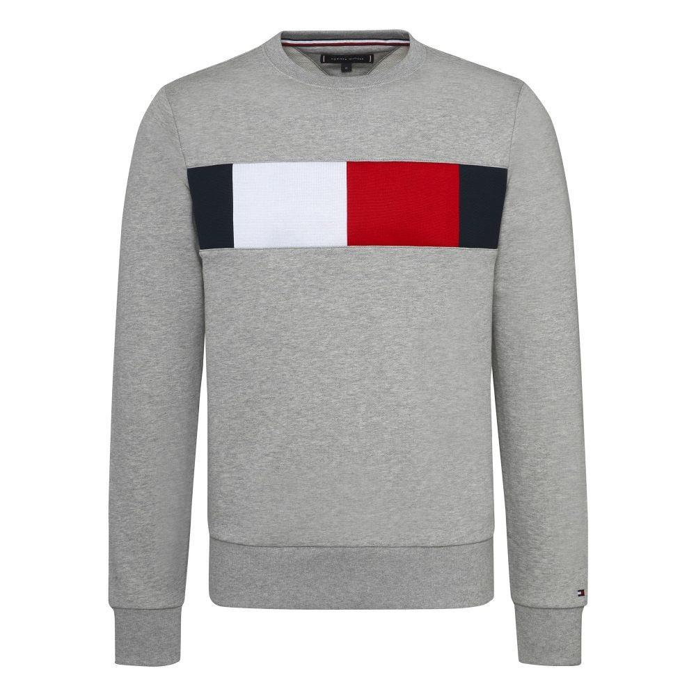 トミー ヒルフィガー Tommy Hilfiger メンズ トップス スウェット・トレーナー【Chest Flag Logo Sweatshirt】grey