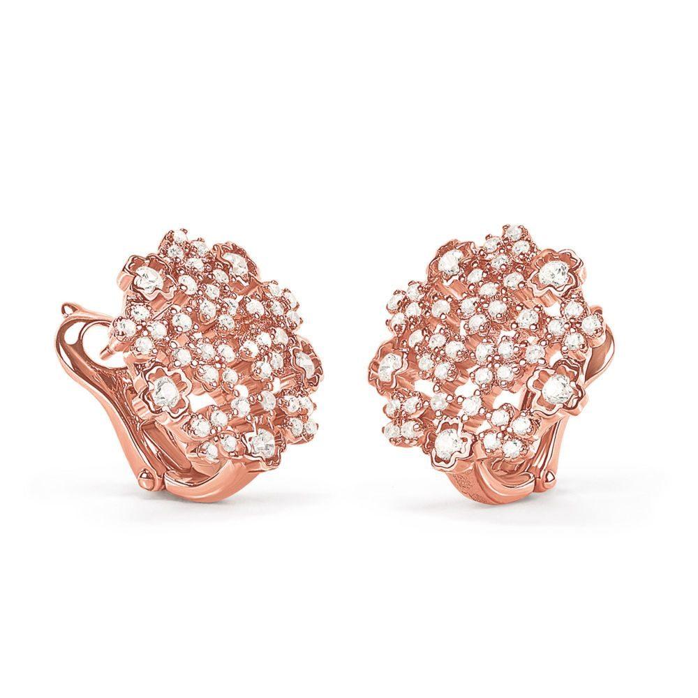 フォリフォリ Folli Follie レディース ジュエリー・アクセサリー イヤリング・ピアス【Bouquet Rose Gold Earrings】rose gold