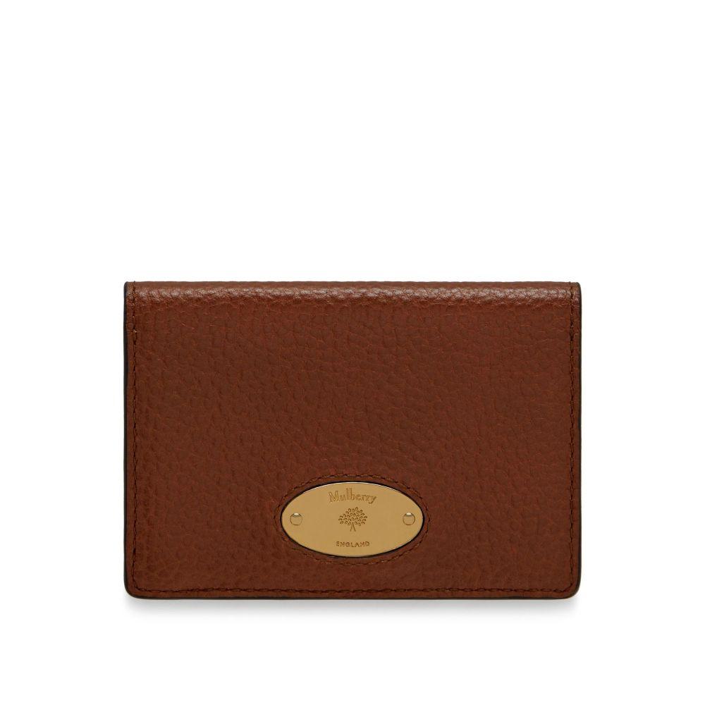 bc7b71ad33ec マルベリー Mulberry ユニセックス カードケース・名刺入れ【Card Holder】oak