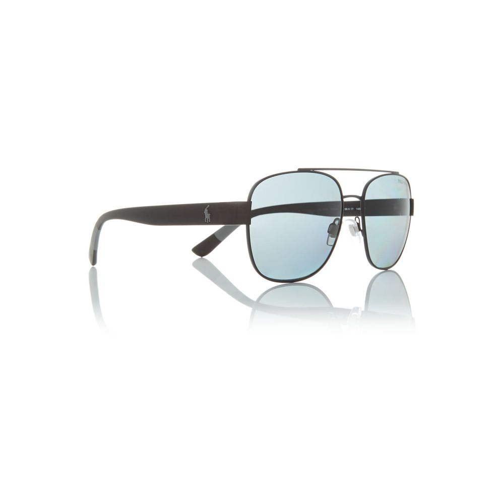 ラルフ ローレン Polo Ralph Lauren メンズ メガネ・サングラス【Black Oo9397 Square Sunglasses】frame colour: black