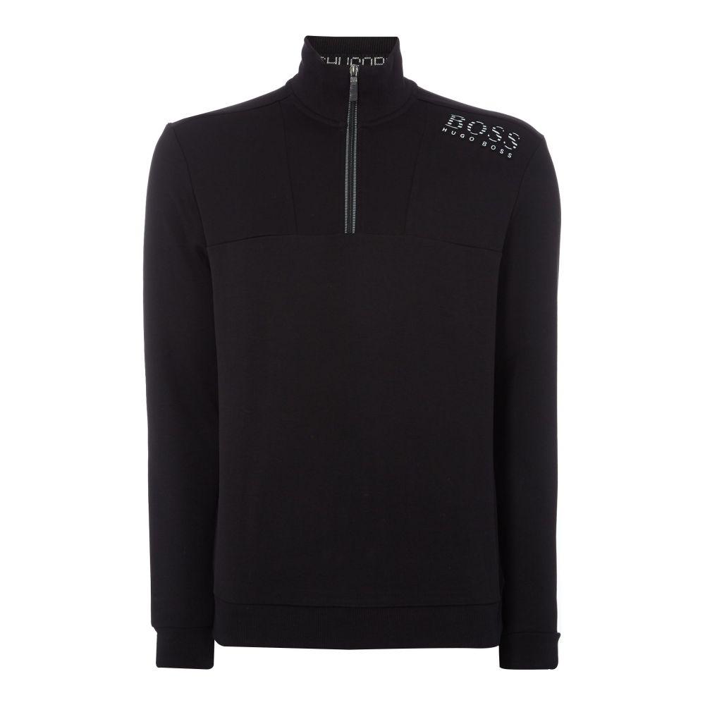 ヒューゴ ボス Hugo Boss メンズ トップス スウェット・トレーナー【Quarter Zip Sweatshirt】black