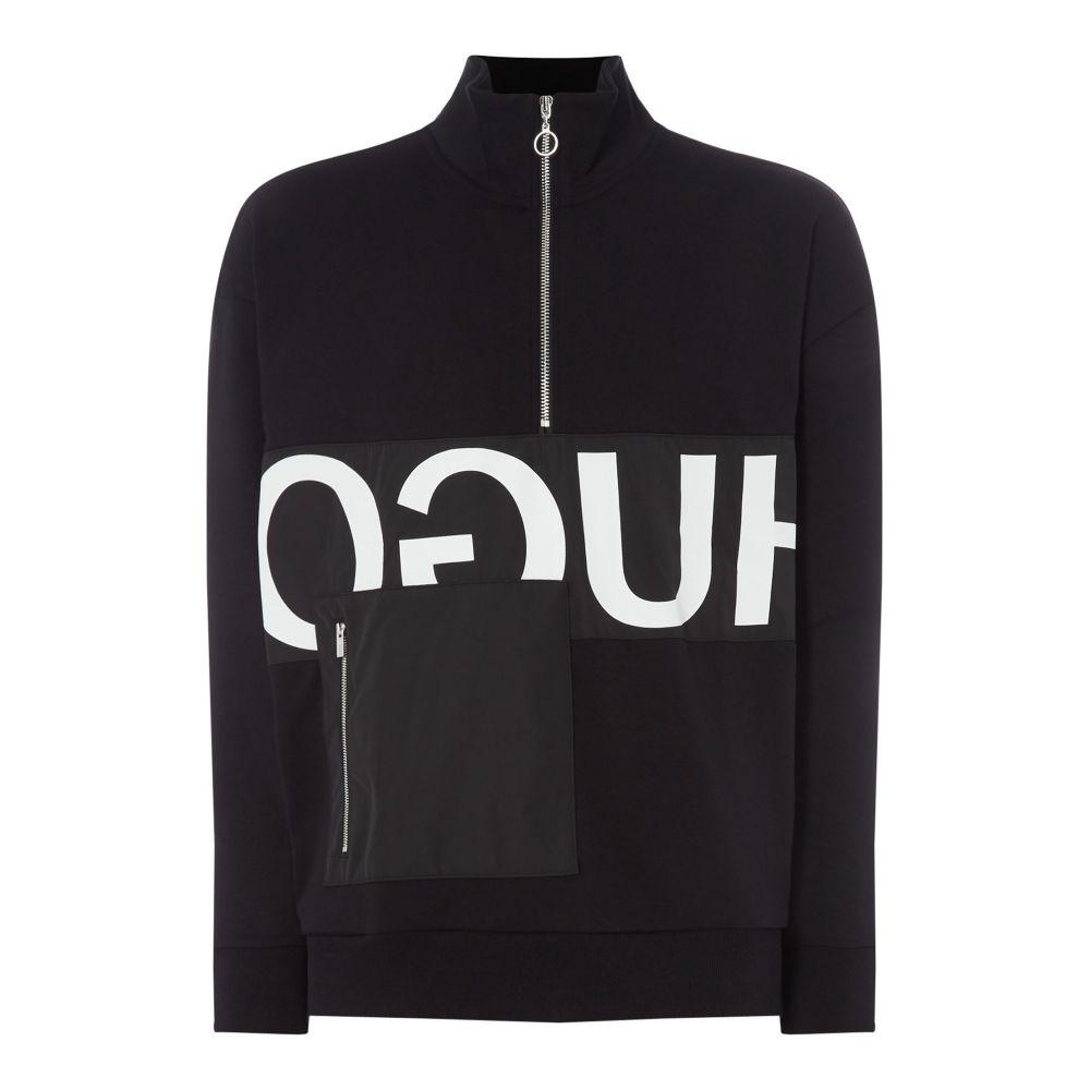 ヒューゴ ボス Hugo メンズ トップス スウェット・トレーナー【Darrius Reverse Logo Funnel Neck Sweatshirt】black