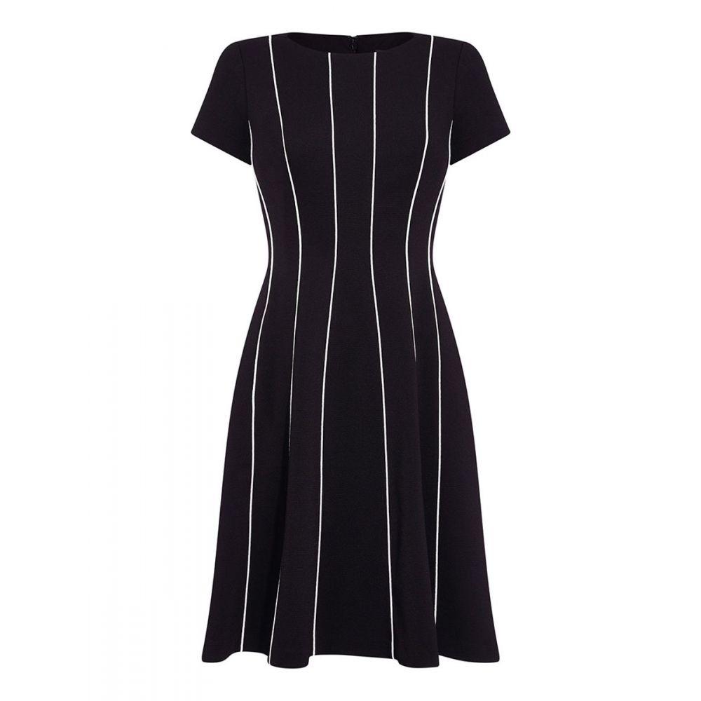 アドリアナ パペル Adrianna Papell レディース ワンピース・ドレス ワンピース【Daphne Ottoman Seamed Flared Dress】black