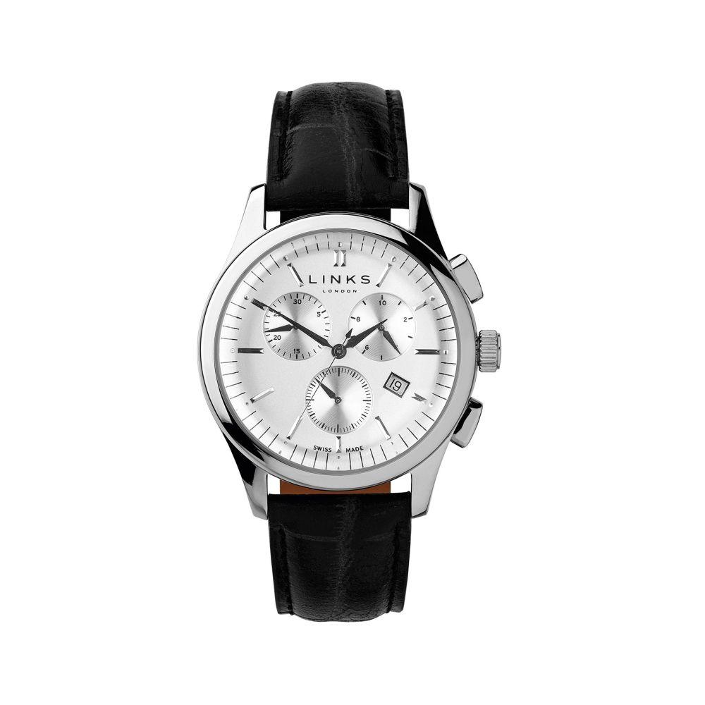 リンクス オブ ロンドン Links of London メンズ 腕時計【Regent Black Strap Chronograph Watch】