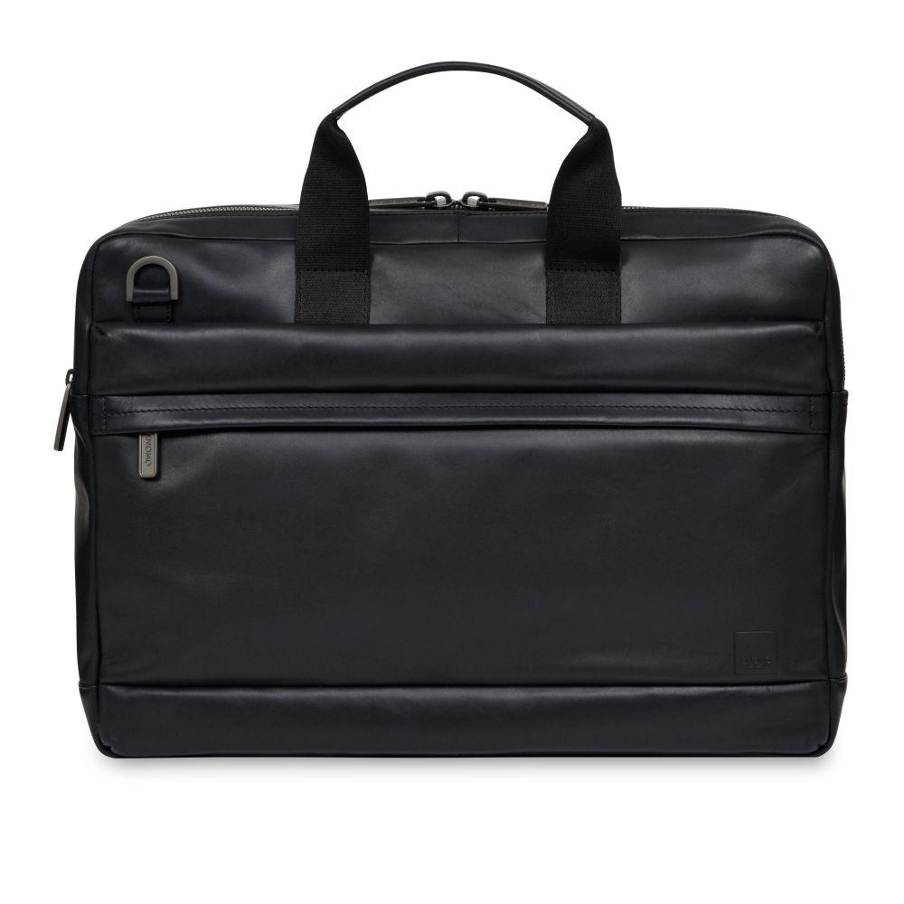 クノモ Knomo ユニセックス バッグ パソコンバッグ【Barbican Roscoe Black Leather Briefcase 15】black