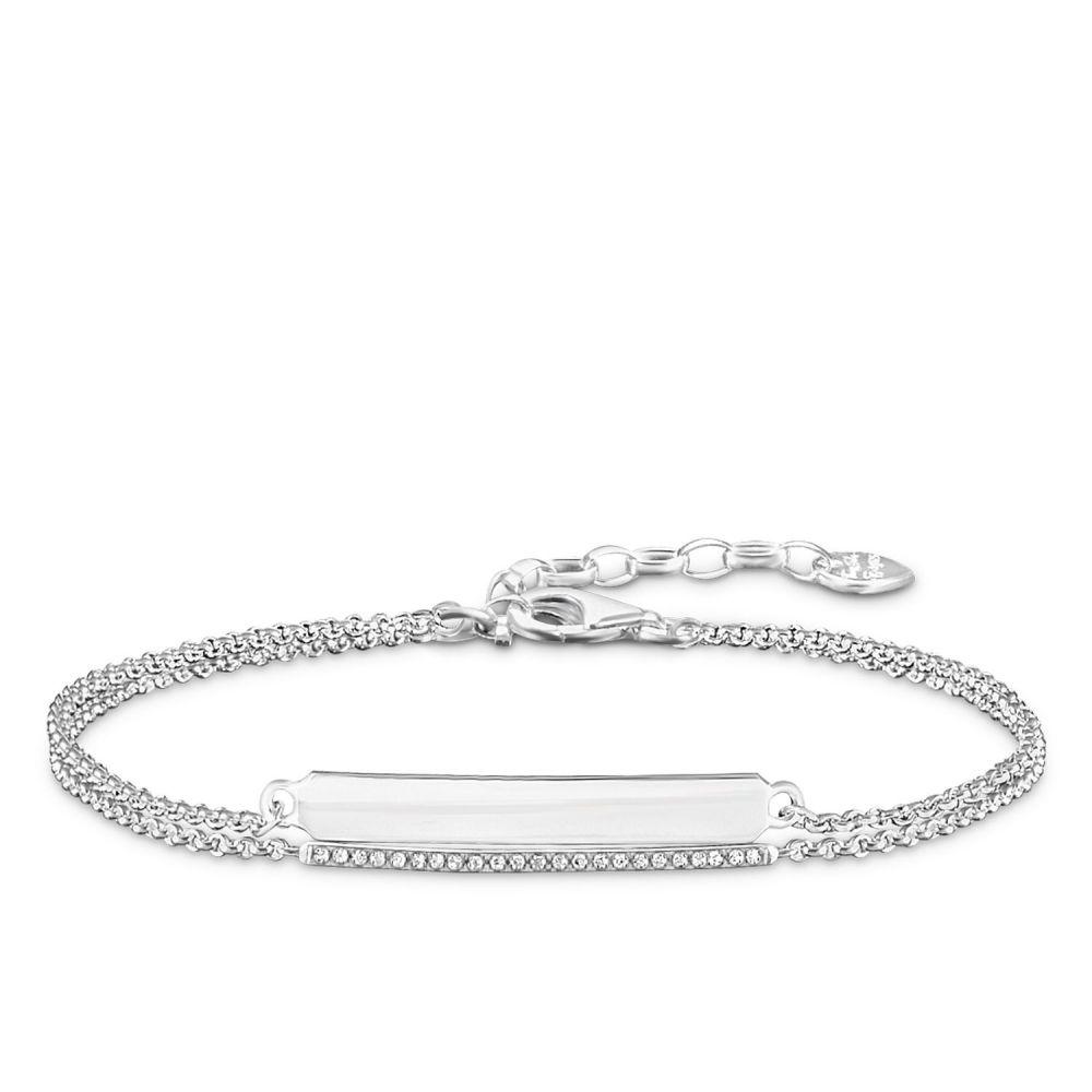 トーマスサボ Thomas Sabo レディース ジュエリー・アクセサリー ブレスレット【Diamond Double Love Bridge Bracelet】metallic