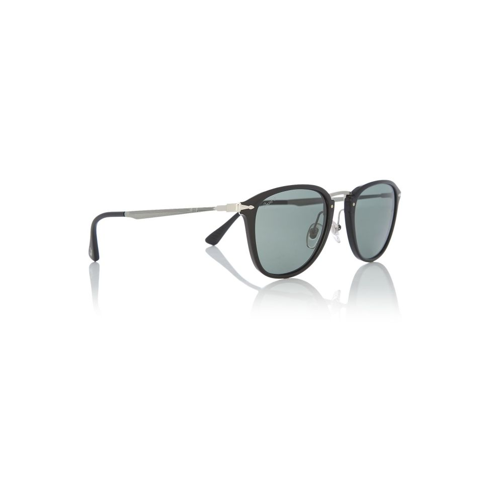 ペルソール Persol メンズ メガネ・サングラス【Black Oo9402 Square Sunglasses】frame colour: black