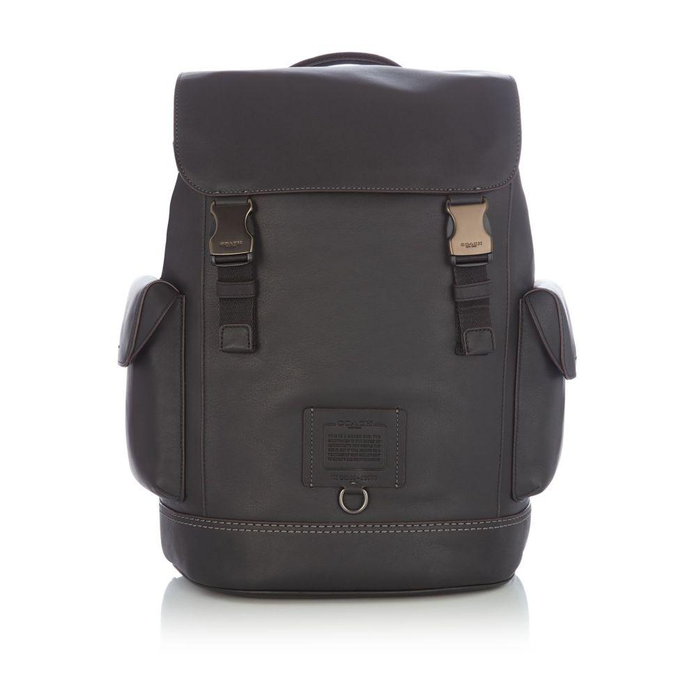 コーチ Coach メンズ バッグ バックパック・リュック【Soft Grain Kent Double Clip Backpack】black