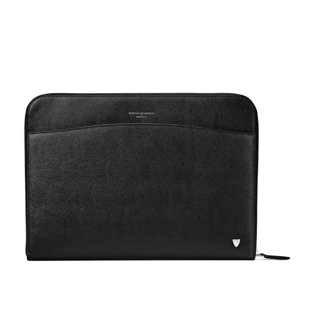 アスピナル オブ ロンドン Aspinal of London ユニセックス バッグ パソコンバッグ【Zipped Laptop Case】black