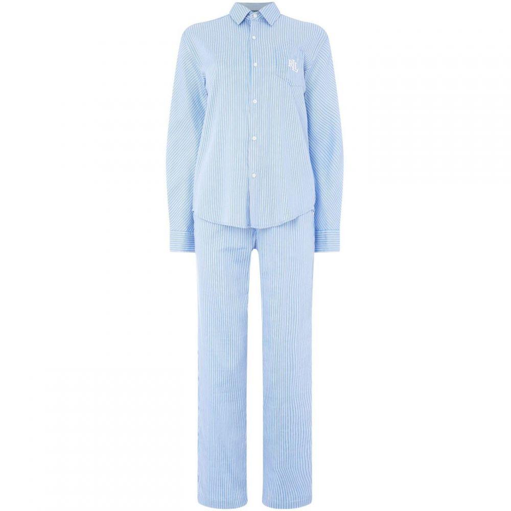 ラルフ ローレン Lauren by Ralph Lauren レディース インナー・下着 パジャマ・上下セット【His shirt PJ set】Blue