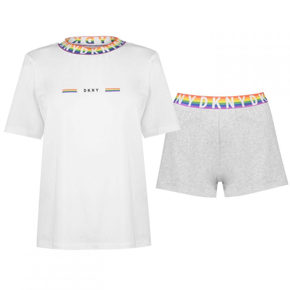 ダナ キャラン ニューヨーク DKNY レディース インナー・下着 パジャマ・上下セット【Pride Boxer Pyjama Set】GREY HTHR