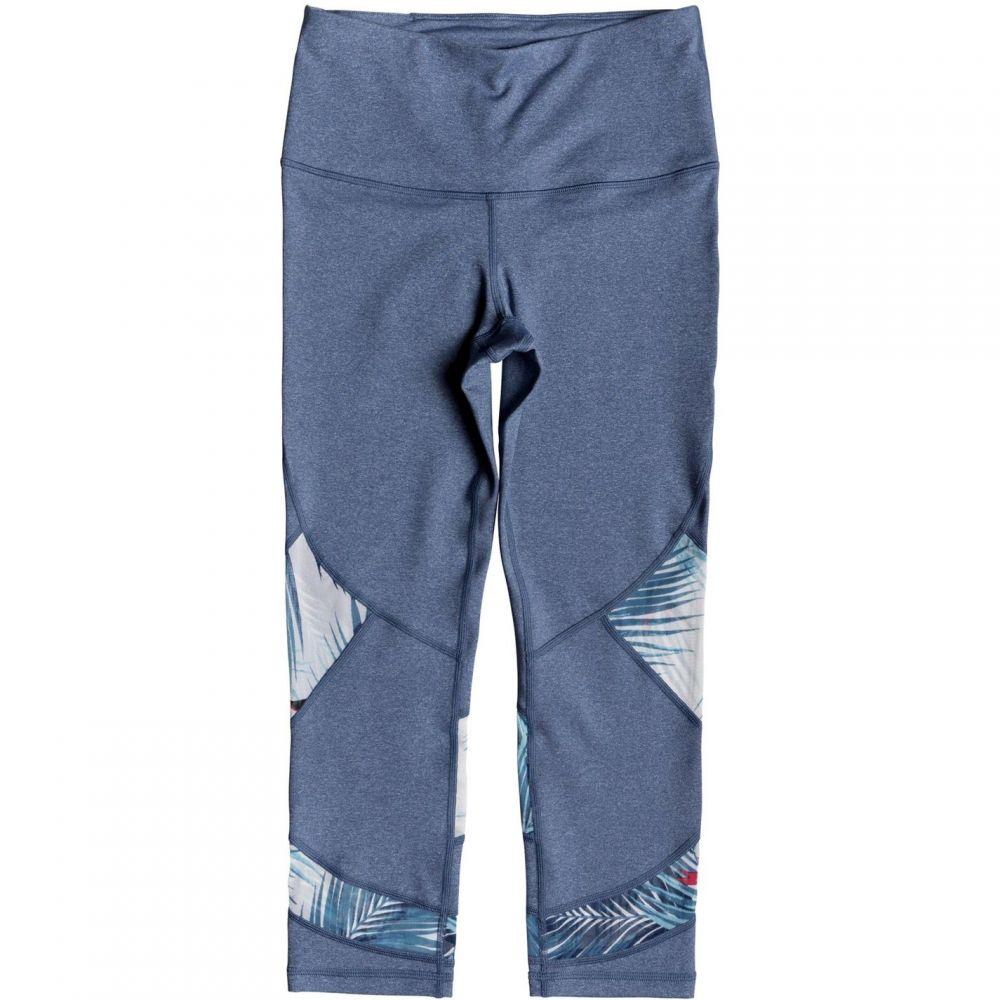 ロキシー Roxy レディース インナー・下着 スパッツ・レギンス【Diamond Hunter Capri Workout Leggings】Blue