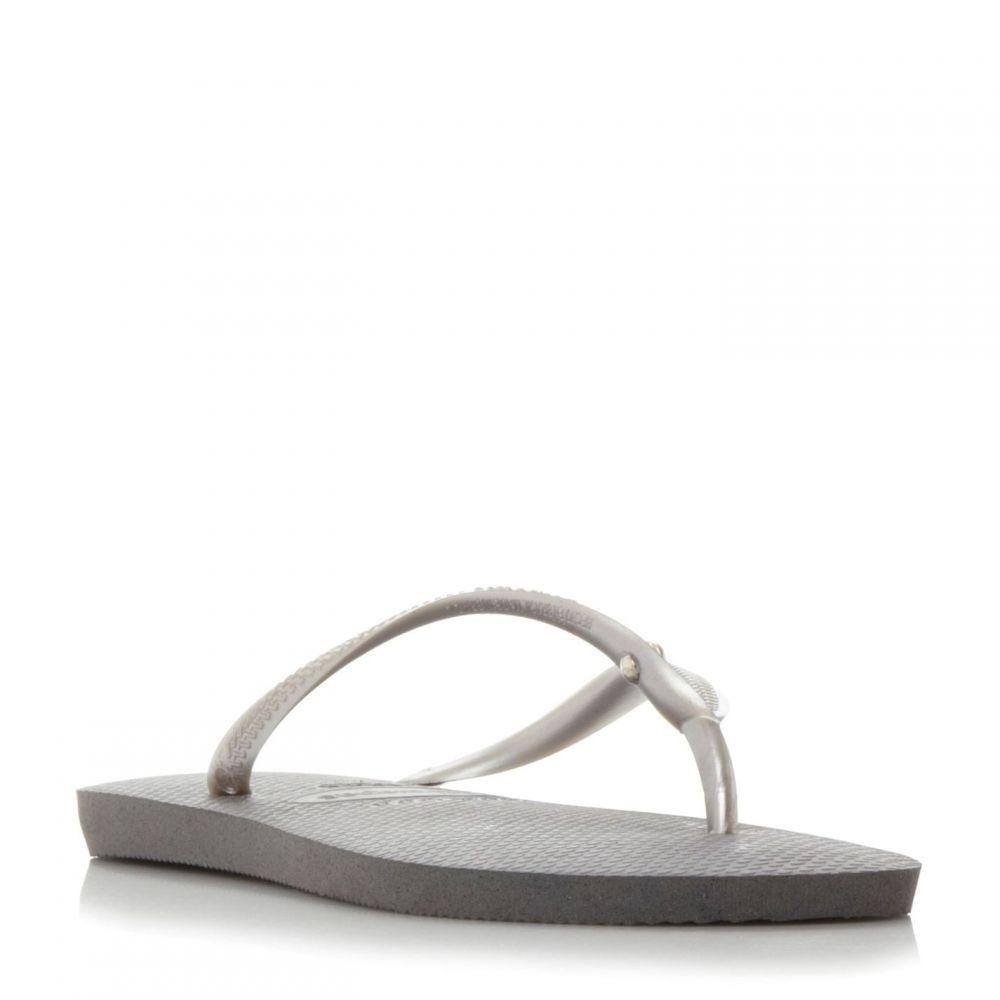 ジーナ バッコーニ Gina Bacconi レディース シューズ・靴 ビーチサンダル【4119517 Slim Swarovski Flip Flops】Grey