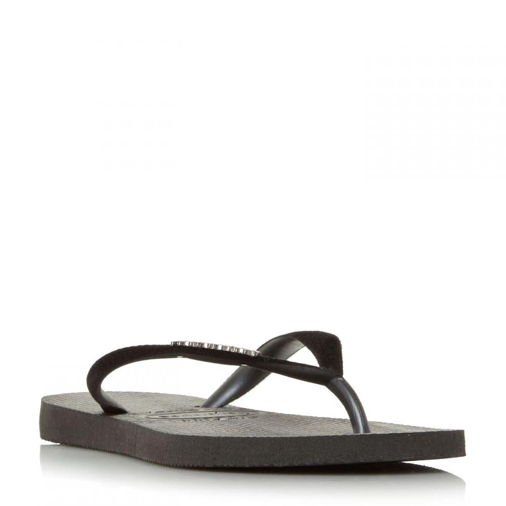 ハワイアナス Havaianas レディース シューズ・靴 ビーチサンダル【4140265 Slim Velvet Flip Flops】Black