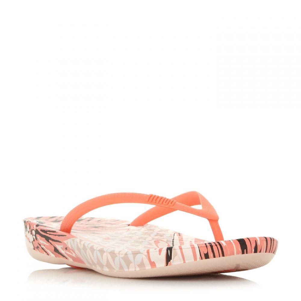 フィットフロップ Fitflop レディース シューズ・靴 ビーチサンダル【Lqushion Wedge Flip Flops】Coral
