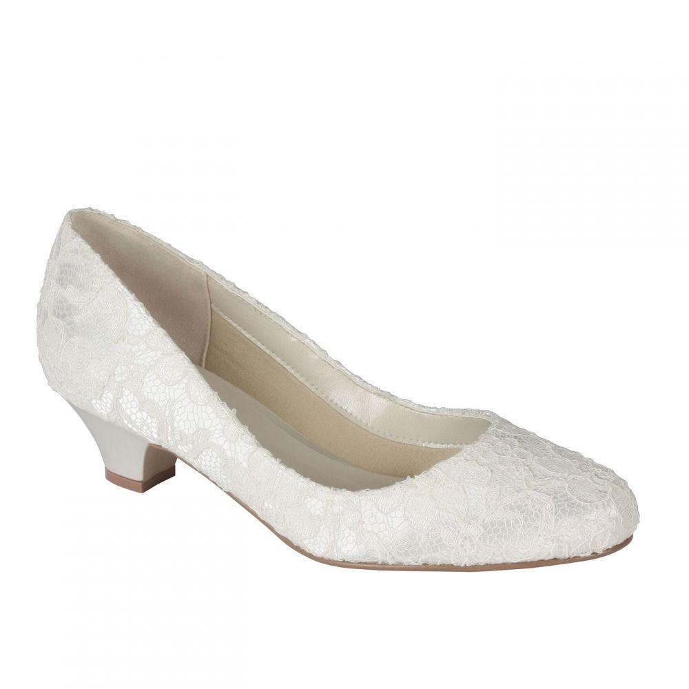 パラドックスロンドンピンク Paradox London Pink レディース シューズ・靴 パンプス【Bon Bon lace low heel court shoes】Ivory