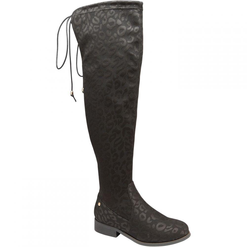 ラヴェル Ravel レディース シューズ・靴 ブーツ【Hartford Knee High Boots】Black Leopard