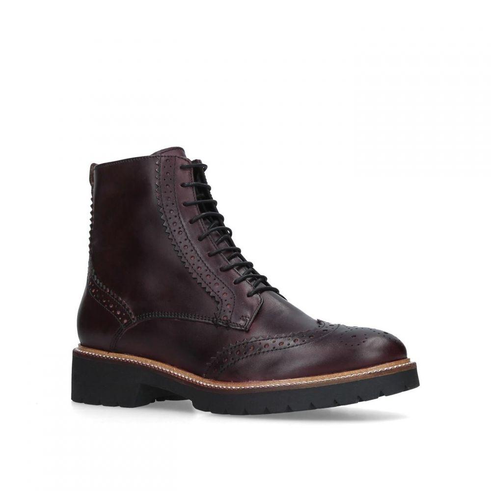 訳あり カーベラ Carvela flat レディース シューズ カーベラ・靴 ブーツ ブーツ【Snail【Snail flat lace up ankle boots】Red, Scroll Beauty:2fb0ac04 --- dmarketingland.in