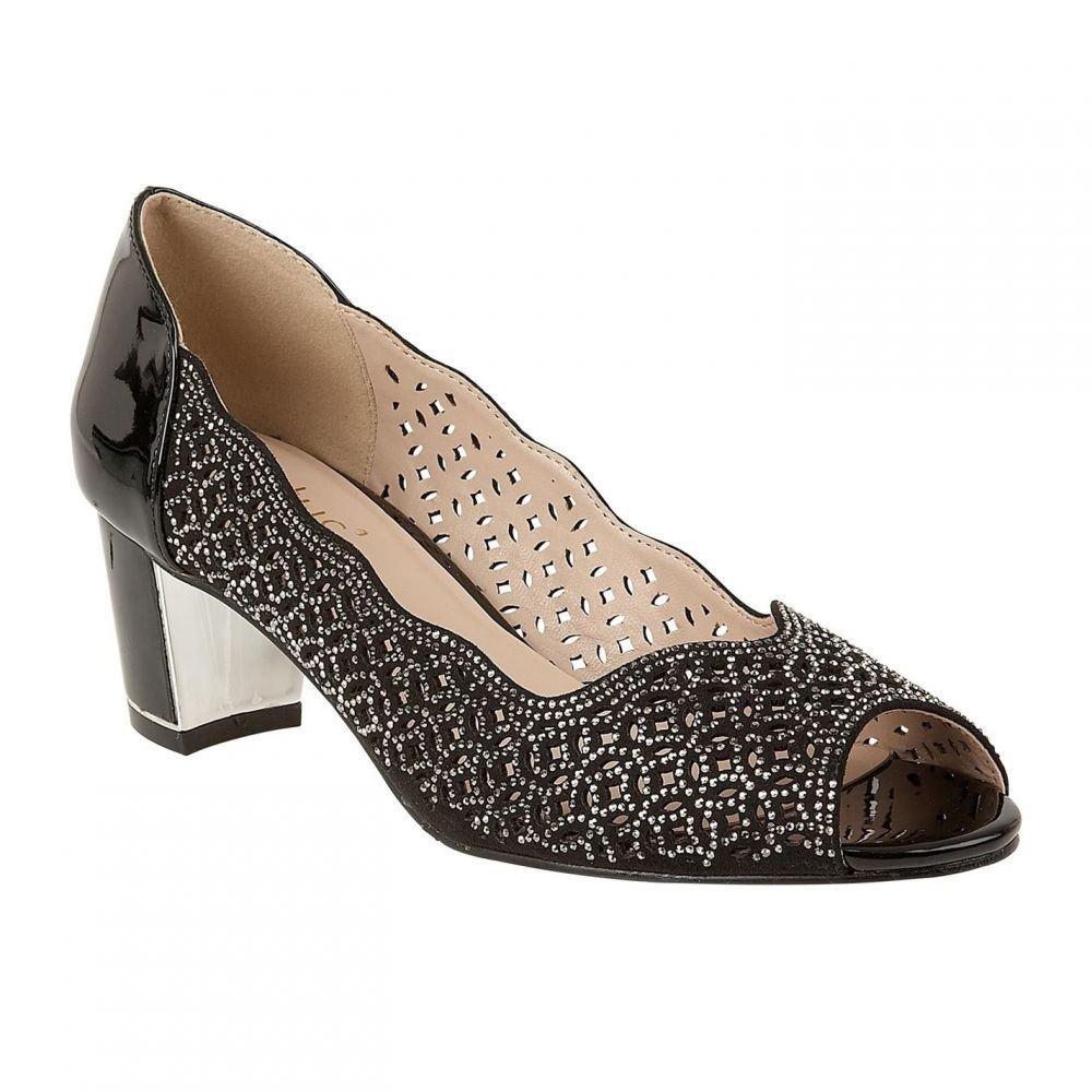 ロータス Lotus Shoes レディース シューズ・靴 パンプス【Attica Peep Toe Courts】Black