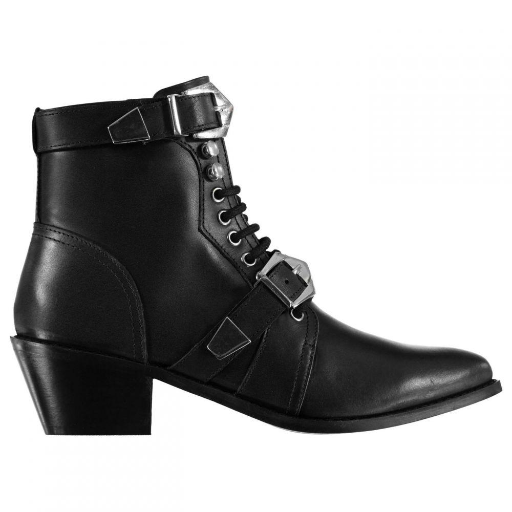 Boots】Black レディース Feud フゥード ブーツ【Sandy Lace シューズ・靴 Leather