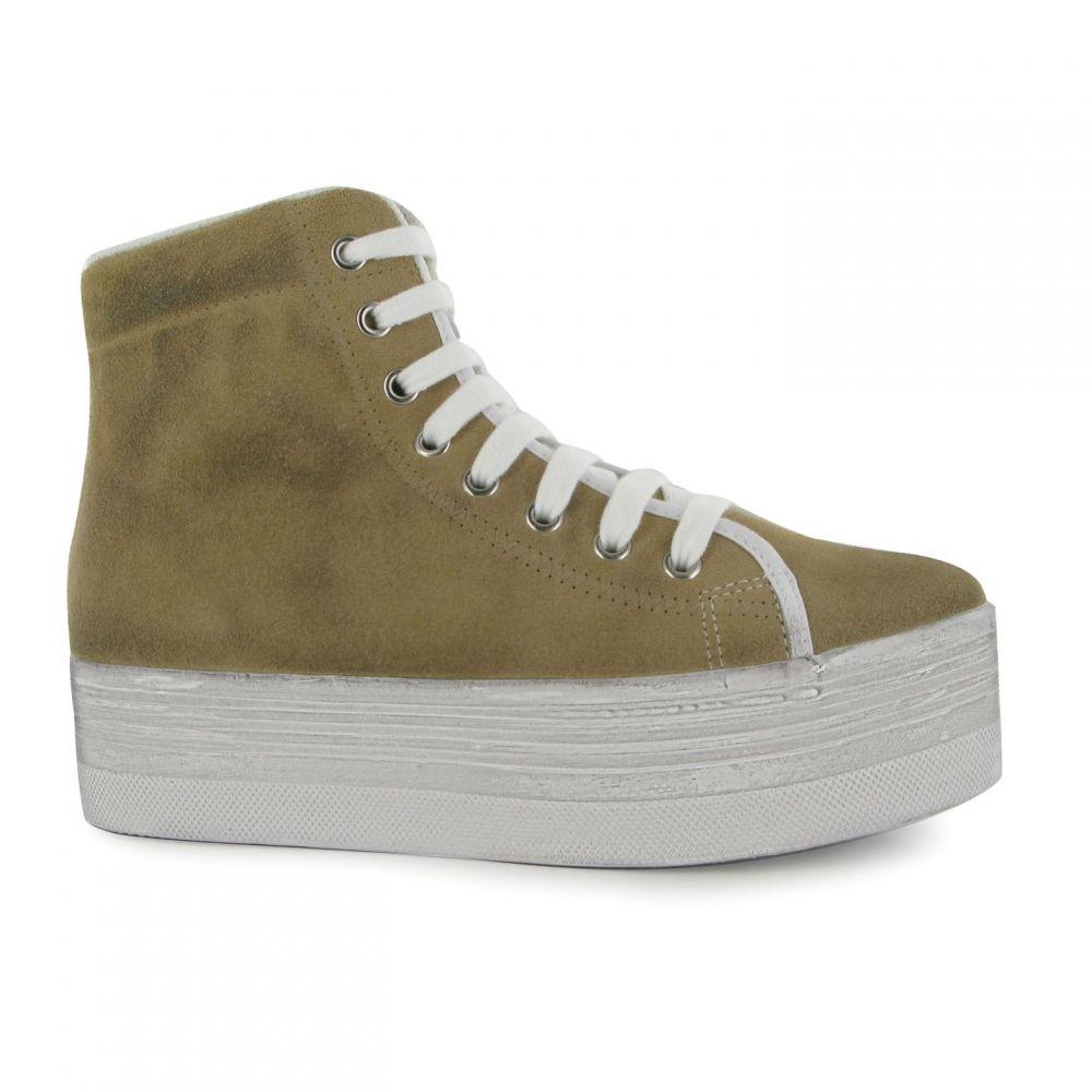 Tops】Sand スニーカー【Homg レディース Wash キャンベル ジェフリー シューズ・靴 White Jeffrey Campbell Suede Hi