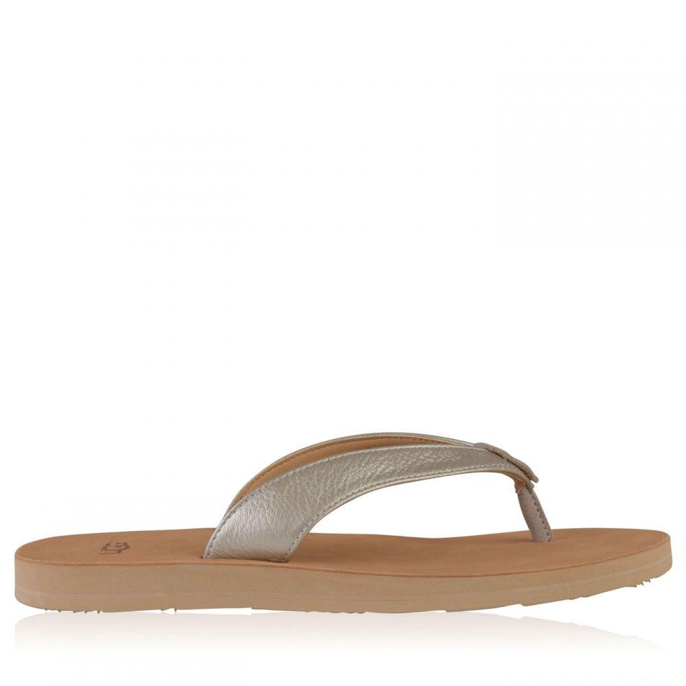 アグ Ugg レディース シューズ・靴 ビーチサンダル【Flip Flops】Silver