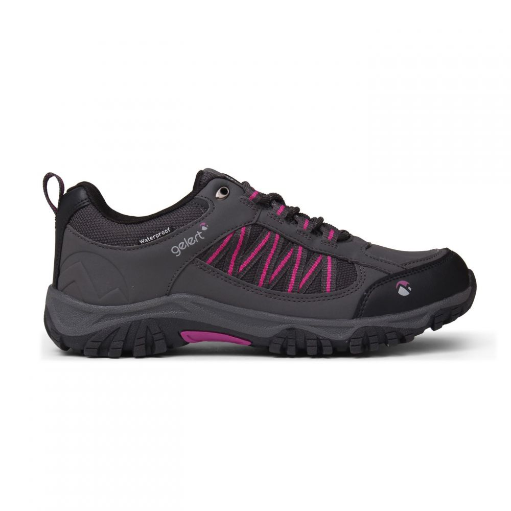 ジェラート Gelert レディース ランニング・ウォーキング シューズ・靴【Horizon Low Waterproof Walking Shoes】Charcoal