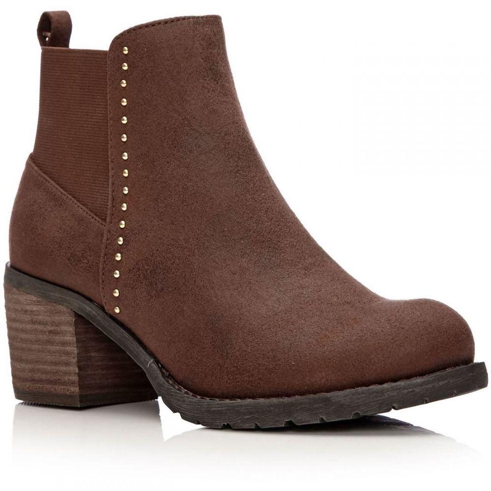 モーダインペレ Moda in Pelle レディース シューズ・靴 ブーツ【Angela Medium Casual Short Boots】Tan