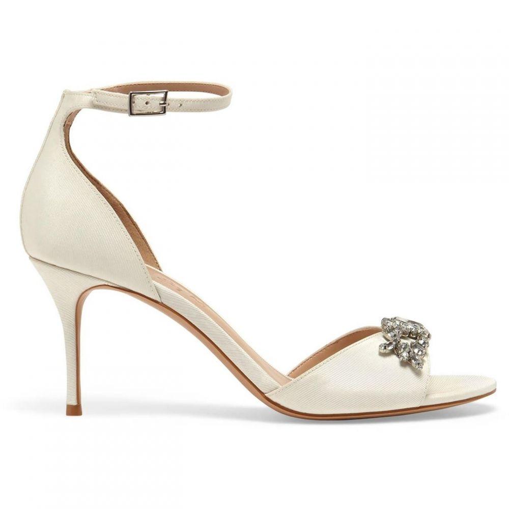 フェーズ エイト Phase Eight レディース シューズ・靴 サンダル・ミュール【Mallory Jeweled Front Heeled Sandals】Ivory