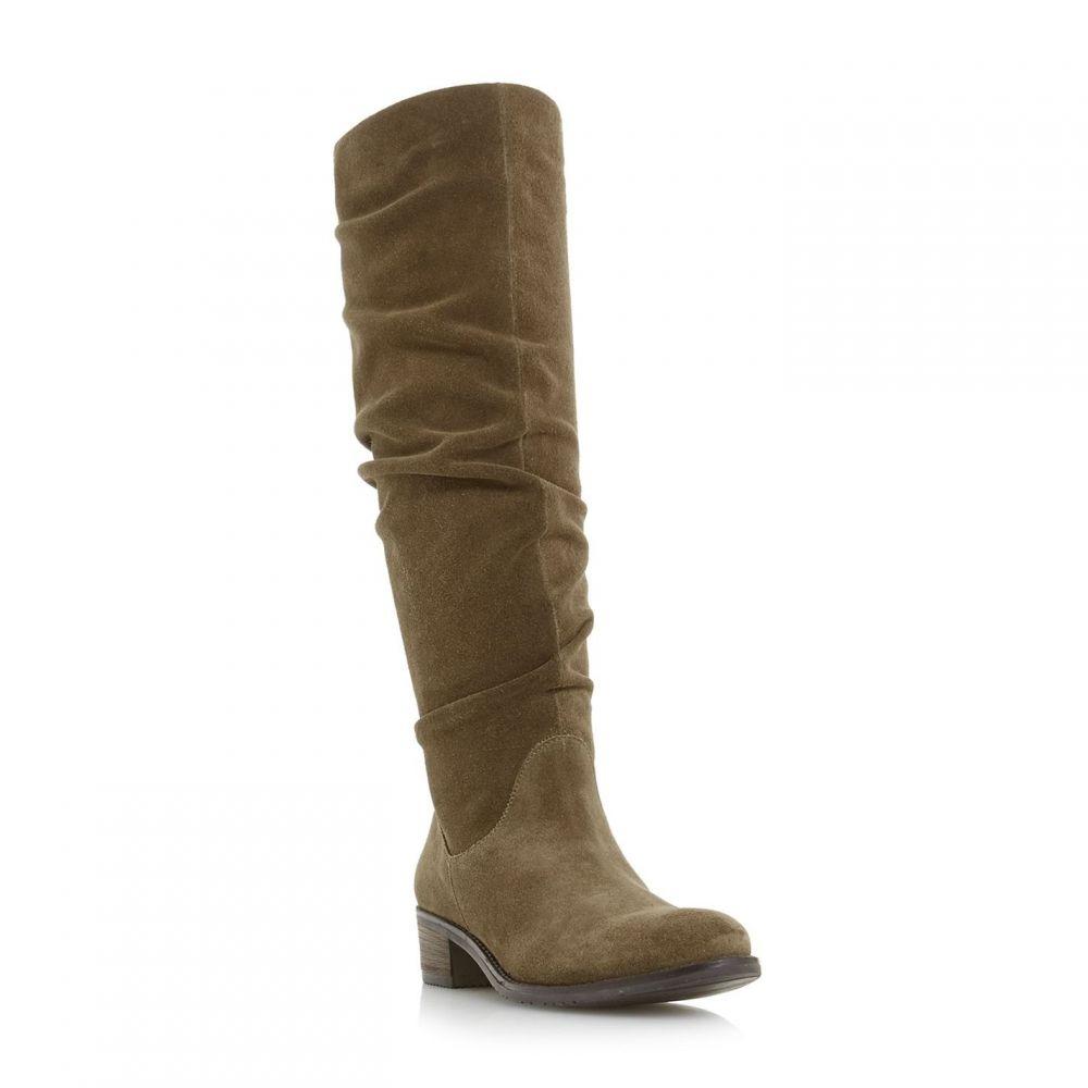 デューン Dune レディース シューズ・靴 ブーツ【Tabatha Rouched Pager High Leg Boots】Taupe
