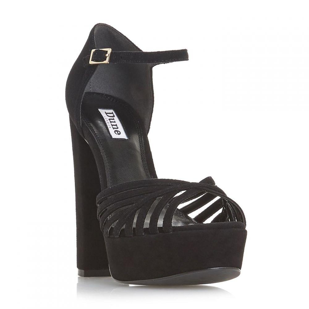デューン Dune レディース シューズ・靴 サンダル・ミュール【Madisonn Platform Heel Cage Sandals】Black