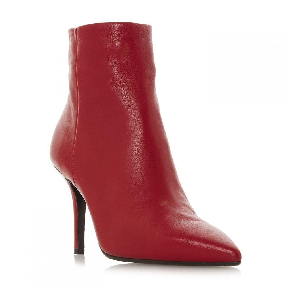 デューンブラック Dune Black レディース シューズ・靴 ブーツ【Oconnor Stiletto Heel Ankle Boots】Red