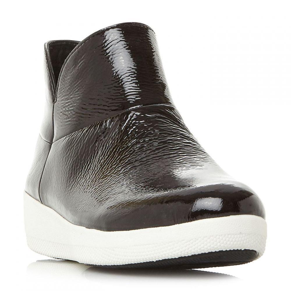 フィットフロップ Fitflop レディース シューズ・靴 ブーツ【Supermod Ankle Patent Chelsea Boots】Black