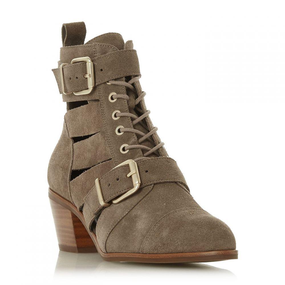 デューン Dune レディース シューズ・靴 ブーツ【Papaiya Two Buckle Cut Out Boots】Taupe