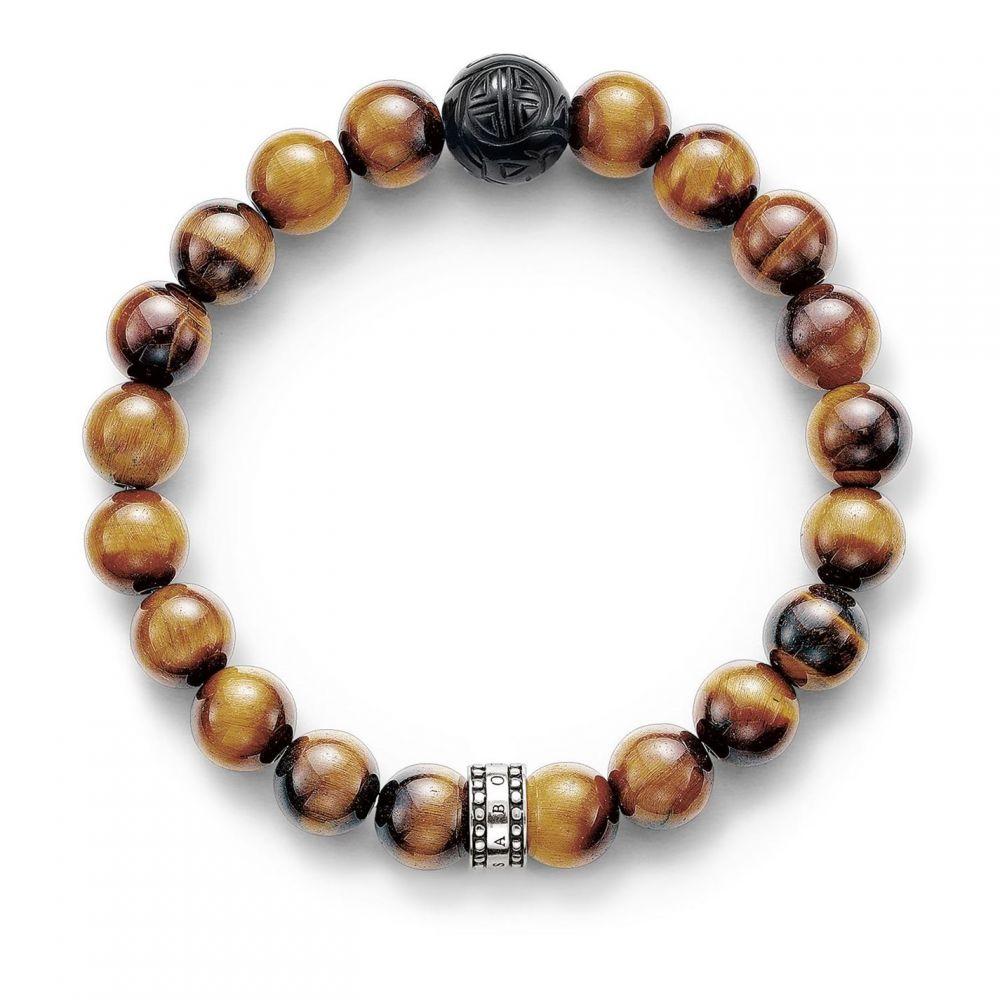 トーマスサボ Thomas Sabo レディース ジュエリー・アクセサリー ブレスレット【Rebel at heart tiger`s eye bracelet】Brown
