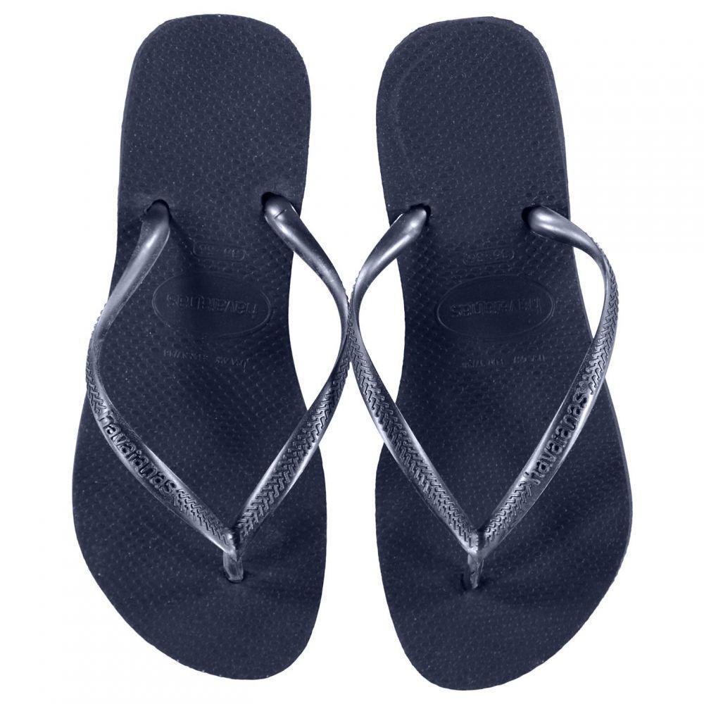 ハワイアナス Havaianas レディース シューズ・靴 ビーチサンダル【Slim Flip Flops】Black