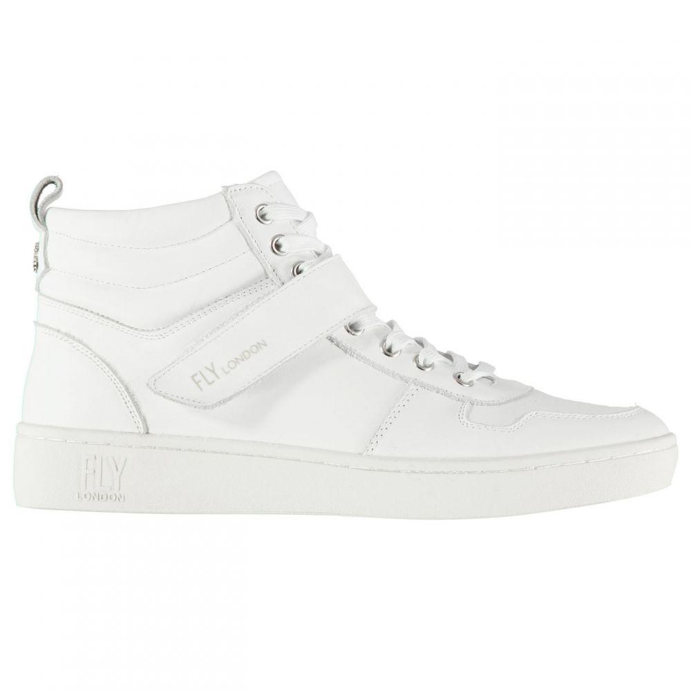 フライロンドン Fly London レディース シューズ・靴 スニーカー【London Mida Hi Tops】White Leather