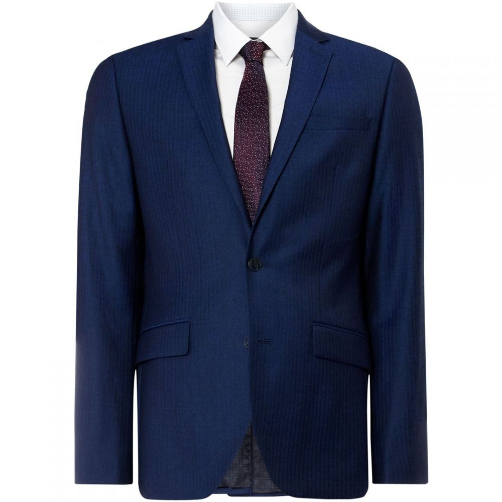 ケネス コール Kenneth Cole メンズ アウター スーツ・ジャケット【Austin Slim Herringbone Suit Jacket】Blue