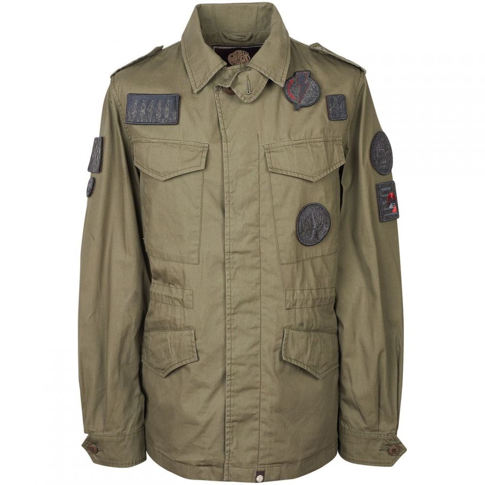 プリティー グリーン Pretty Green メンズ アウター ジャケット【Four Pocket Badge Jacket】Khaki