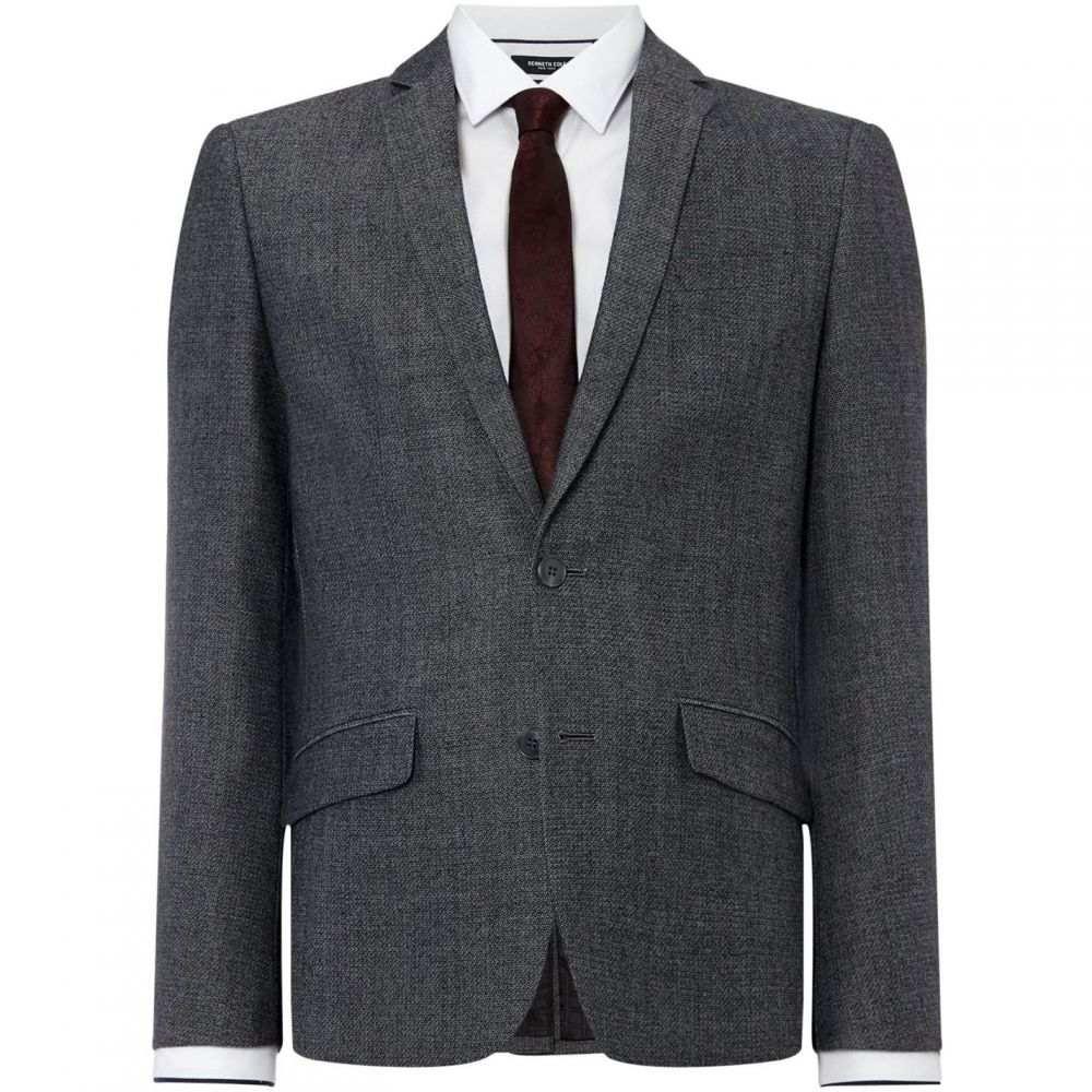 ケネス コール Kenneth Cole メンズ アウター スーツ・ジャケット【Vancouver Knitted Texture Suit Jacket】Charcoal