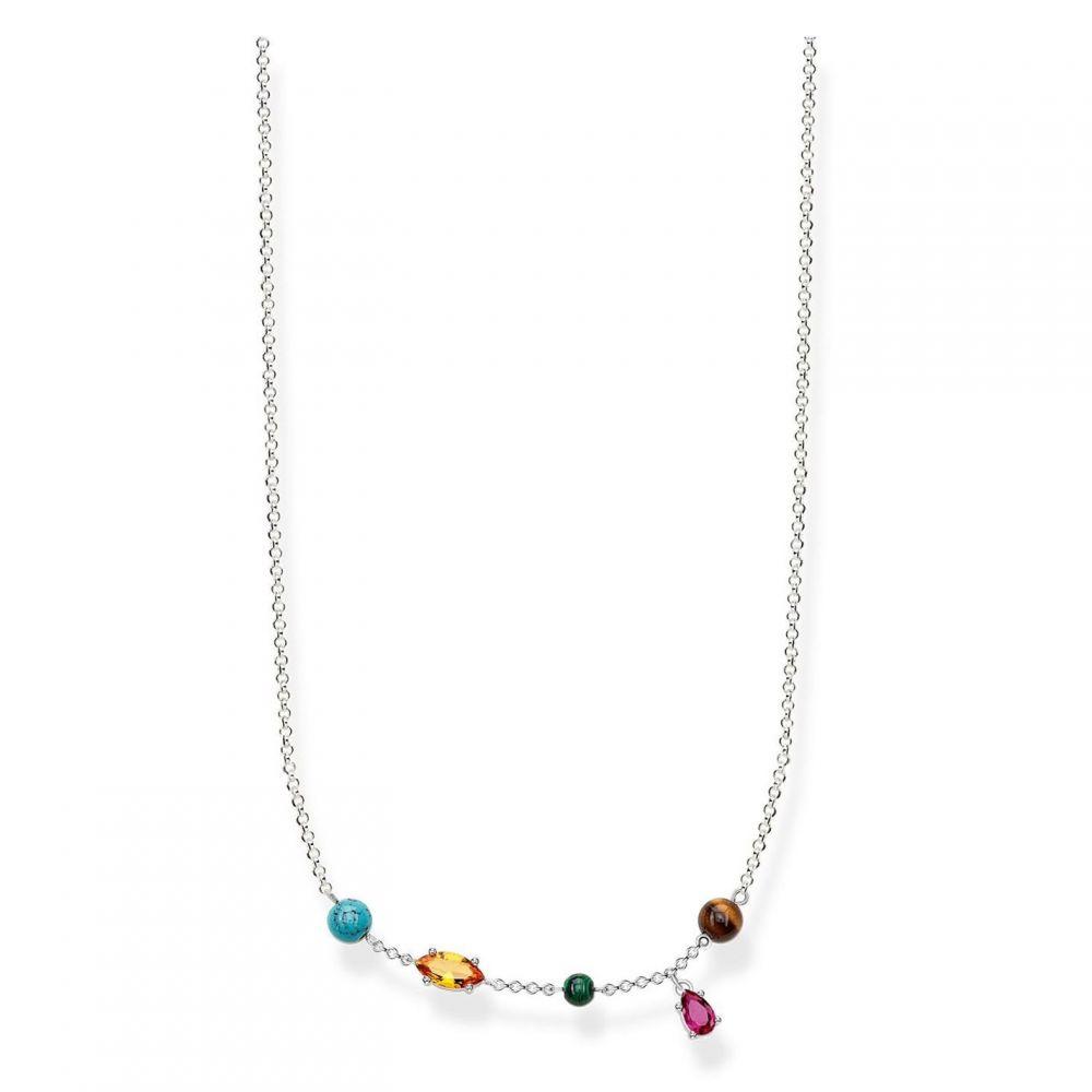 トーマスサボ Thomas Sabo レディース ジュエリー・アクセサリー ネックレス【Riviera Colours Multi Charm Necklace】Multi-Coloured