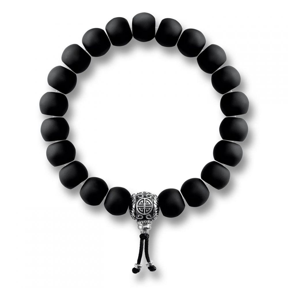 トーマスサボ Thomas Sabo レディース ジュエリー・アクセサリー ブレスレット【Rebel at heart Mala Obsidian Bracelet】Black