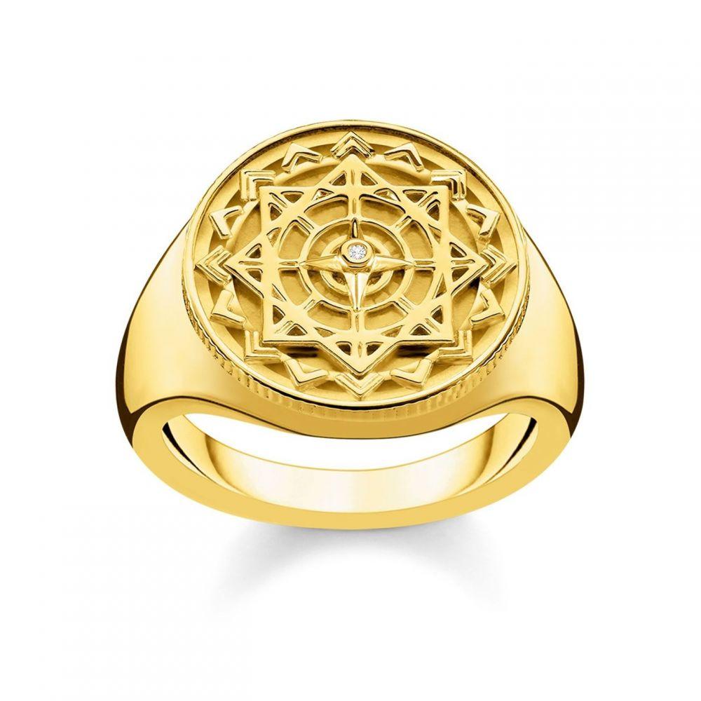 トーマスサボ Thomas Sabo レディース ジュエリー・アクセサリー 指輪・リング【Gold Vintage Compass Diamond Signet Ring】White